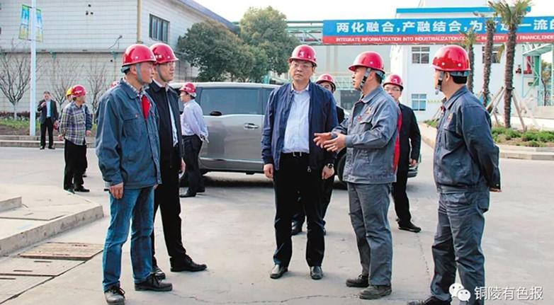 张家港市委书记朱立凡到铜陵有色张家港联合铜业公司调研